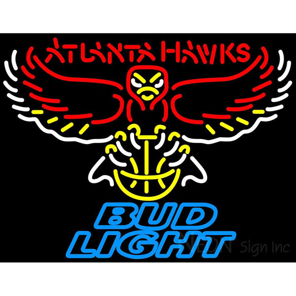 Bud Light Atlanta Hawks NBA Neon Sign