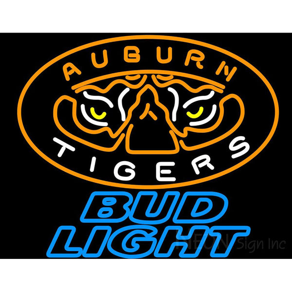 Bud Light Auburn Tigers Neon Sign