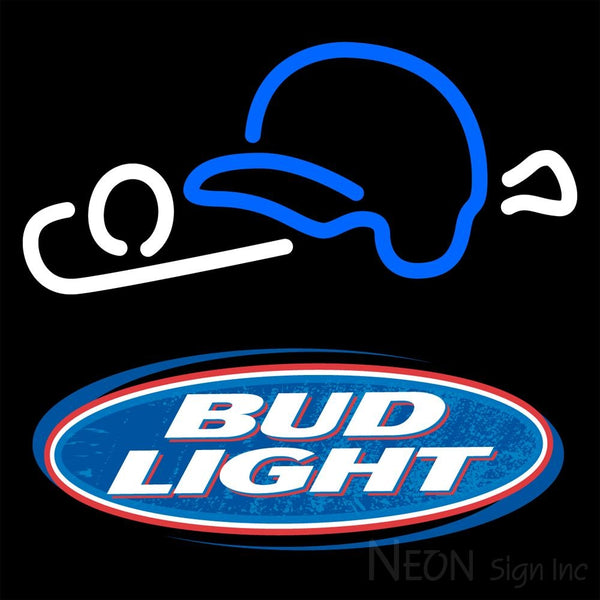 Bud Light Baseball Neon Beer Sign 1 16x16