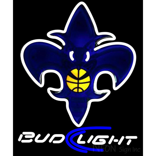 Bud Light Beer Charlotte Hornets Neon Sign Bar Light