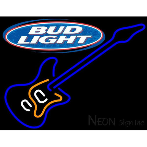 Bud Light Blue Electric GUITAR Neon Sign 12 0005