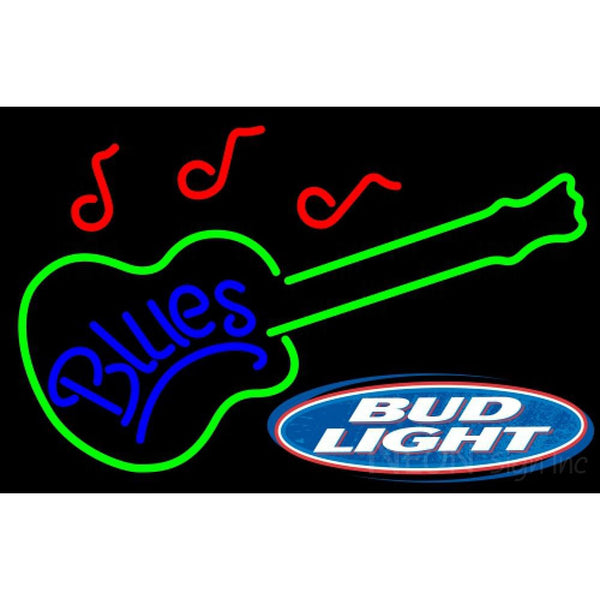 Bud Light Blues GUITAR Neon Sign 12 0007