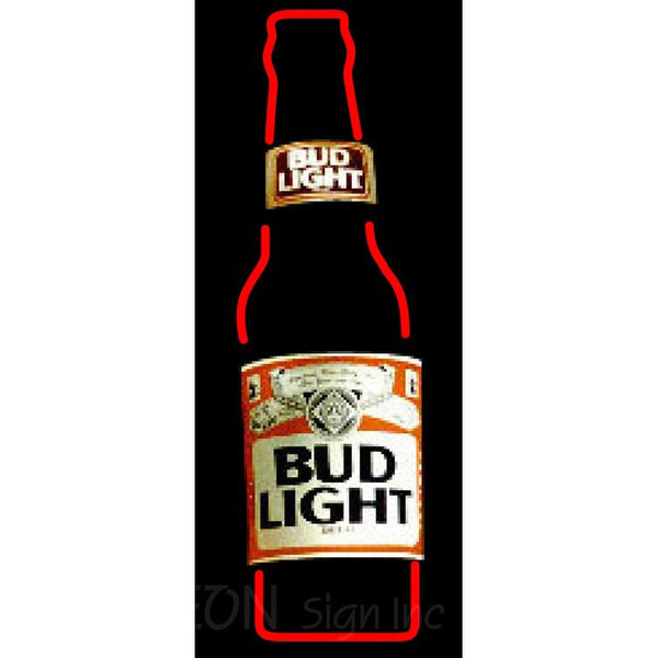 Bud Light Bottle Neon Beer Sign