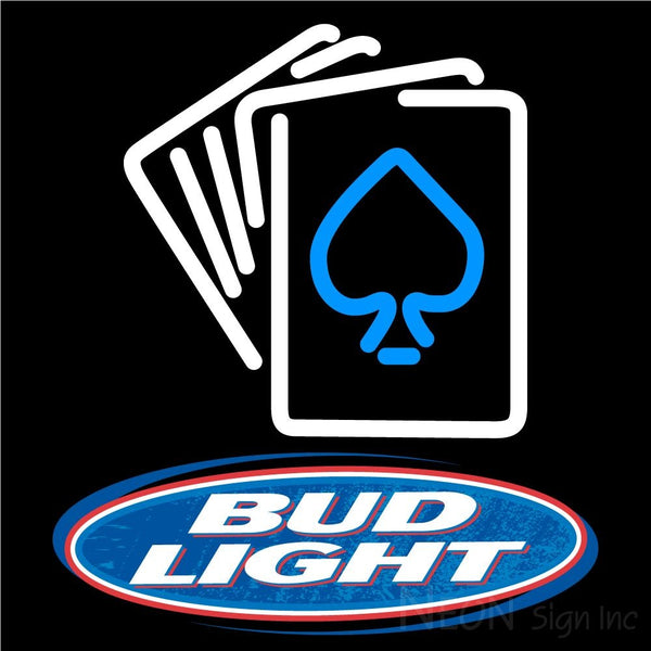 Bud Light Cards Neon Sign