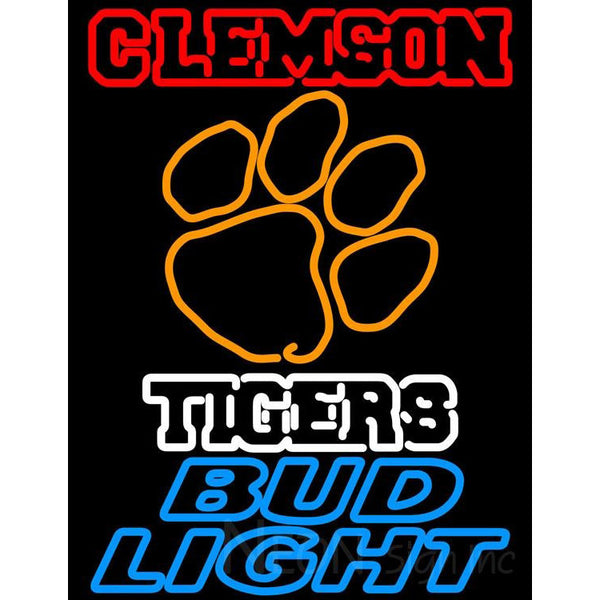 Bud Light Clemson University Tiger Neon Sign
