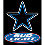 Bud Light Dallas Cowboys NFL Neon Sign 1 0001