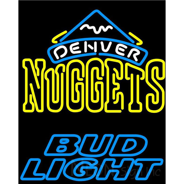 Bud Light Denver Nuggets NBA Neon Sign