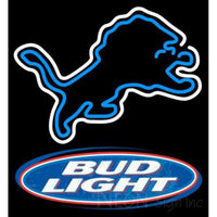 Bud Light Detroit Lions NFL Neon Sign 1 0001