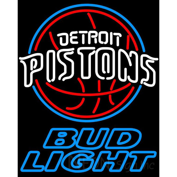 Bud Light Detroit Pistons NBA Neon Sign