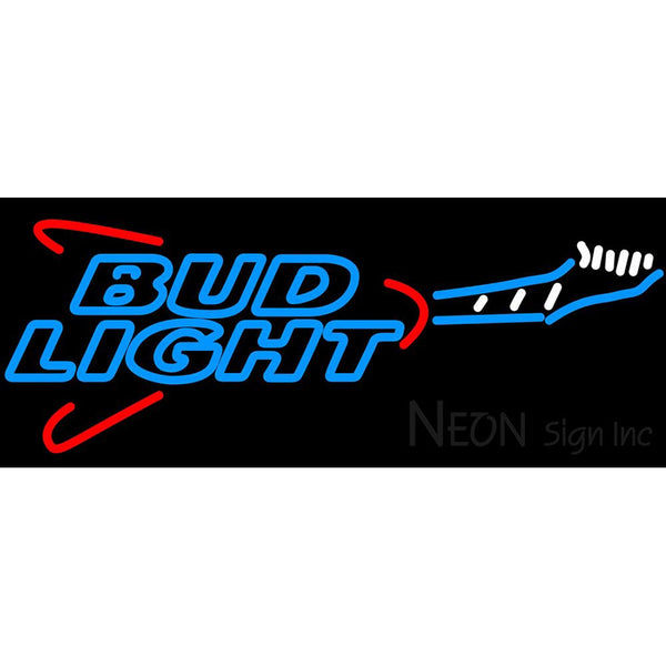 Bud Light Flying V Guitar Neon Beer Sign