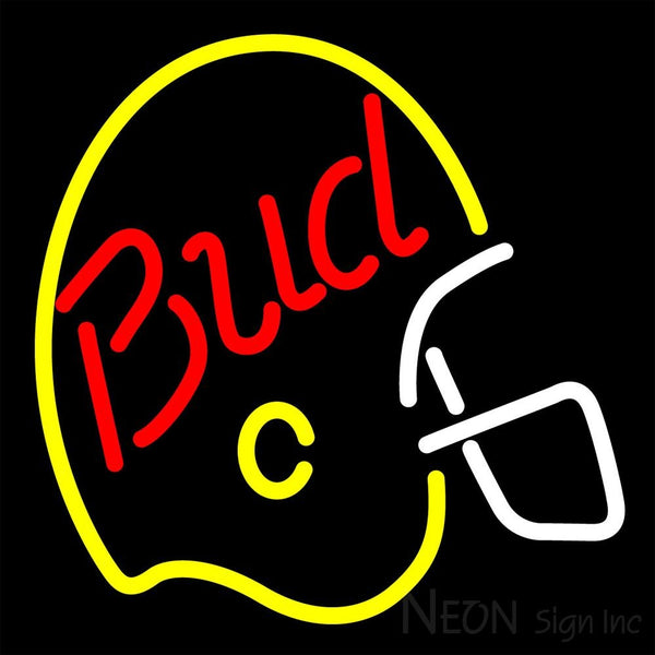 Bud Light Helmet Neon Beer Sign 16x16