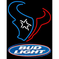 Bud Light Houston Texans NFL Neon Sign 1 0001