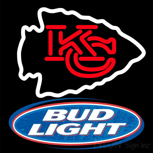 Bud Light Kansas City Chiefs NFL Neon Sign 1 0001 16x16