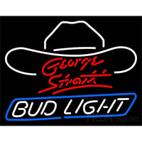 Bud Light Large George Strait Neon Beer Sign 2
