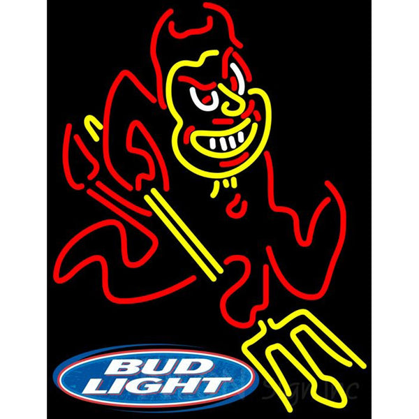 Bud Light Logo Arizona State Sun Devils Neon Sign ASU
