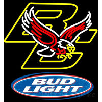 Bud Light Logo Boston College Golden Eagles Neon Sign