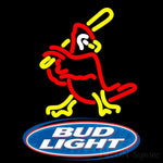Bud Light Logo Cardinals Neon Sign