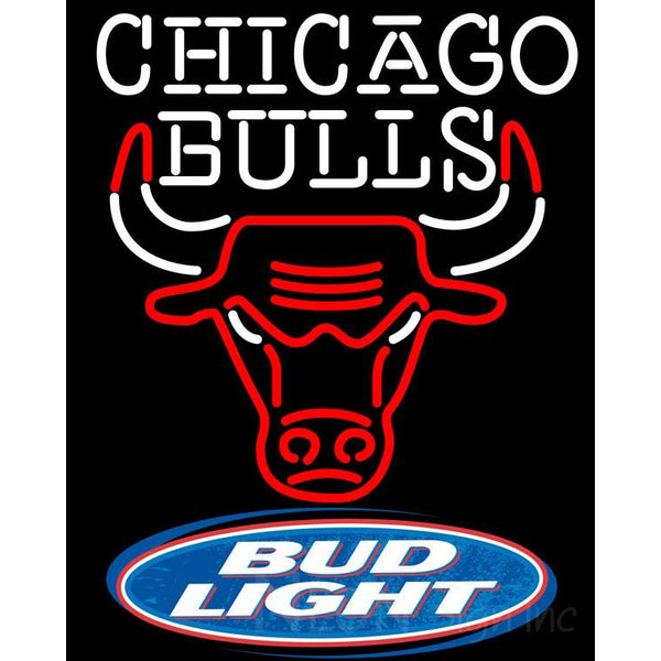 Bud Light Logo Chicago Bulls Nba Neon Sign Neon Sign Inc
