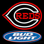 Bud Light Logo Cincinnati Reds Mlb Neon Sign