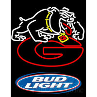 Bud Light Logo Georgia Bulldogs Uga Logo Neon Sign NCAA