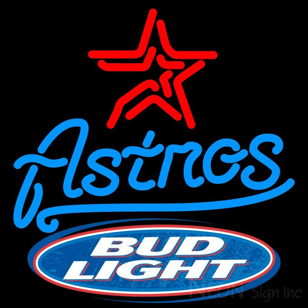Bud Light Logo Houston Astros Mlb Neon Sign
