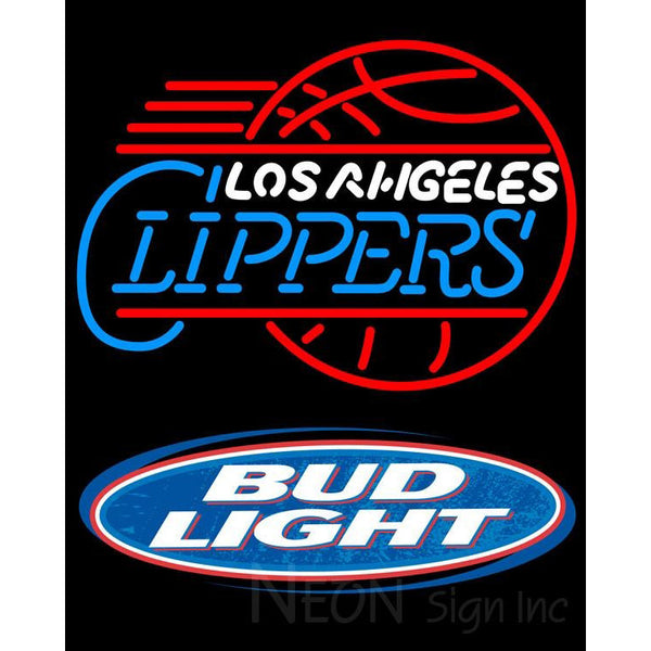 Bud Light Logo Los Angeles Clippers NBA Neon Sign