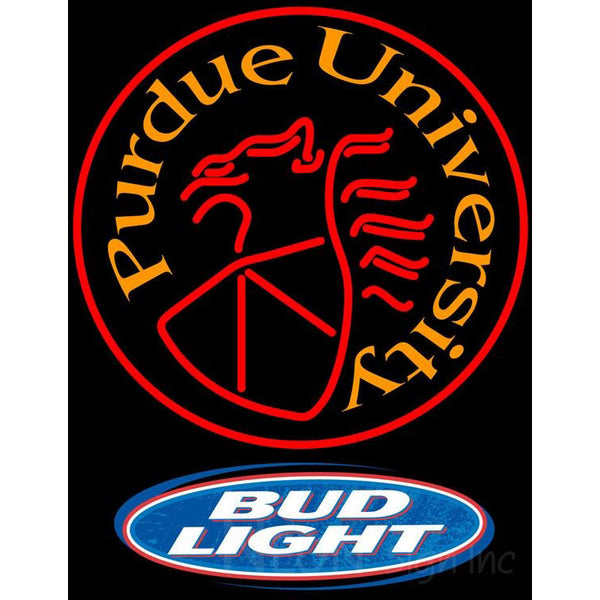 Bud Light Logo Purdue University Round Logo Neon Sign Neon Sign Inc