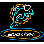 Bud Light Miami Dolphins Neon Beer Sign