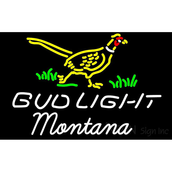 Bud Light Nebraska Montana Neon Sign 1