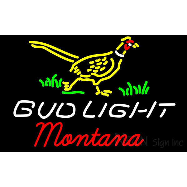 Bud Light Nebraska Montana Neon Sign 2