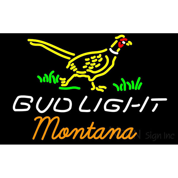 Bud Light Nebraska Montana Neon Sign 3