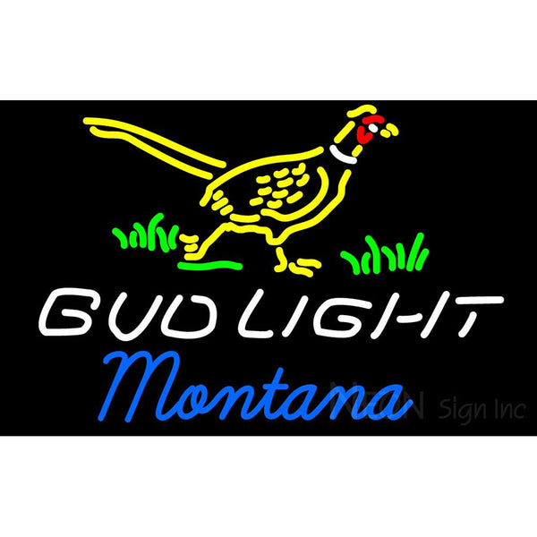 Bud Light Nebraska Montana Neon Sign 4