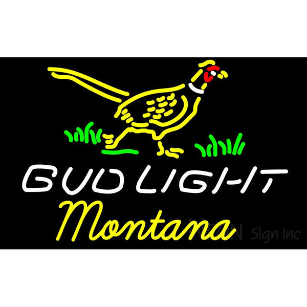 Bud Light Nebraska Montana Neon Sign 5
