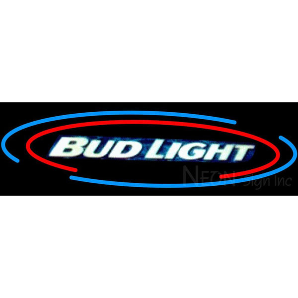 Bud Light Oval Large Neon Beer Sign