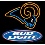 Bud Light St Louis Rams NFL Neon Sign 1 0002