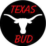 Bud Red Texas White Longhorn Neon Beer Sign
