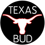 Bud White Texas Red Longhorn Neon Beer Sign 24x24