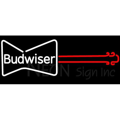 Budweiser Guitar Neon Beer Sign