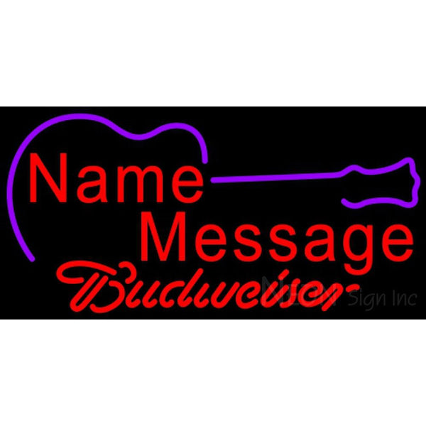 Budweiser Neon Acoustic Guitar Neon Sign 12 0001
