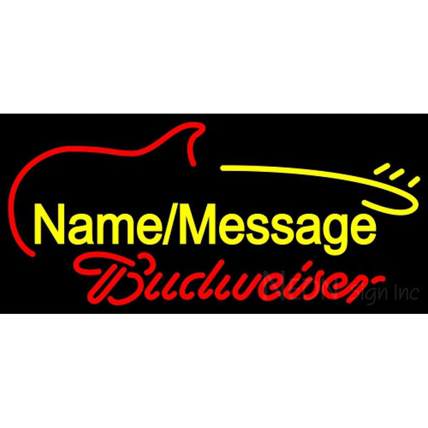 Budweiser Neon Electric Guitar Neon Sign 12 0016