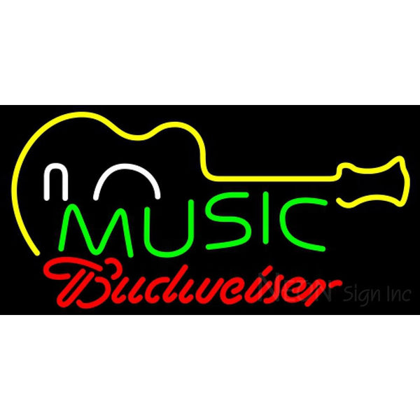 Budweiser Neon Music Guitar Neon Sign 12 0046