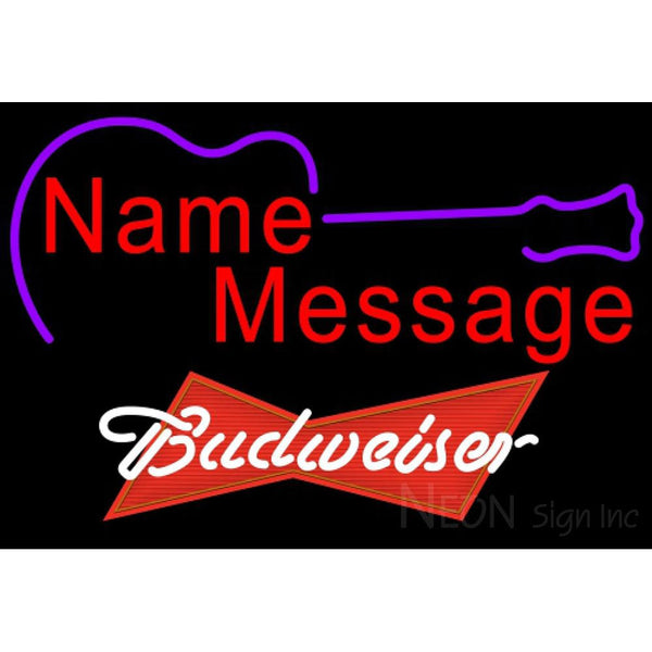 Budweiser Red Acoustic Guitar Neon Sign 12 0003