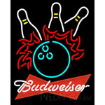 Budweiser Red Bowling Pool Neon Sign 9 0023