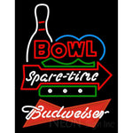 Budweiser Red Bowling Spare Time Neon Sign 9 0025