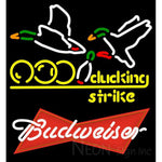 Budweiser Red Bowling Sucking Strike Neon Sign 9 0030