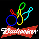 Budweiser Red Colored Bowling Neon Sign 9 0003 16x16