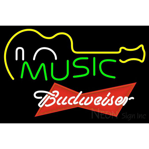 Budweiser Red Music Guitar Neon Sign 12 0048