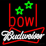 Budweiser White Bowling Alley Neon Sign 9 0002 16x16