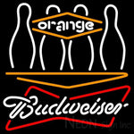 Budweiser White Bowling Orange Neon Sign 9 0020