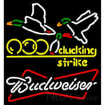 Budweiser White Bowling Sucking Strike Neon Sign 9 0029
